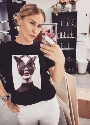 💣шикарная новая коттоновая футболка, крутой принт💣
