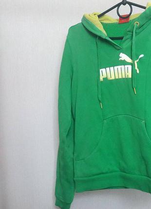 Ярко-зеленая толстовка puma