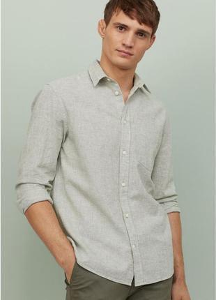 Рубашка, лен, хлопок, оригинал,размер l
