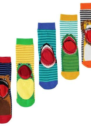 Носки crafted англия набор носочков 5 пар с животными