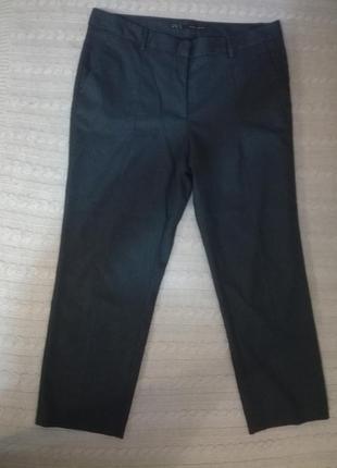 Стильные укороченные брюки zara р.14/м