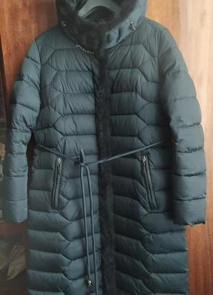 Damader пальто с отделкой норочка