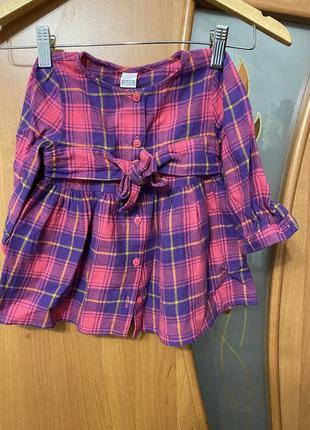 Платье-рубашка тёплое