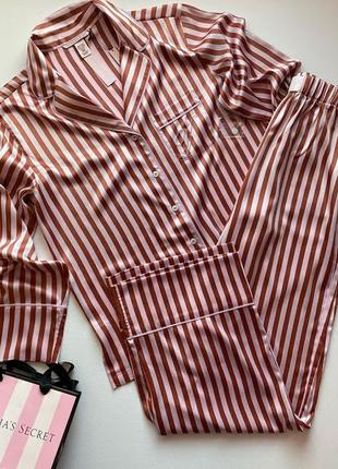 Сатиновая пижама виктория сикрет victoria's secret, оригинал