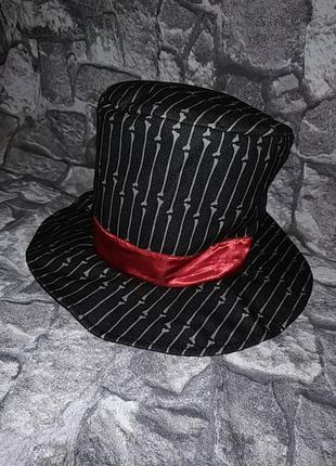 Шляпа цилиндр карнавальный сумасшедший шляпник вилли вонка санта муэрте