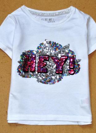 F%f. футболка кроп топ с пайетками. 6-7 лет.