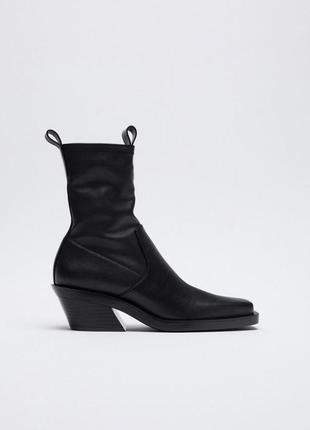 Ботинки zara (стелька кожа - 100%)