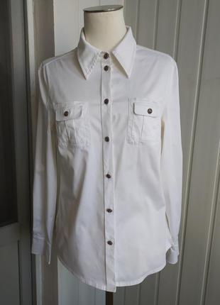 Рубашка белая от escada, 42-44