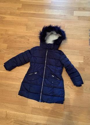 Зимняя теплая куртка пуховик marks&spenser на 5-6 лет