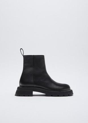 Кожаные ботинки zara