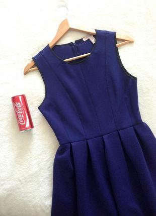 Красивое платье синее (фиолетовое) спандекс от forever 21