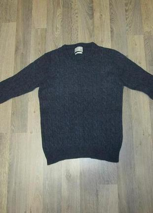 Шерстяной свитер джемпер премиум качества jack & jones m / l