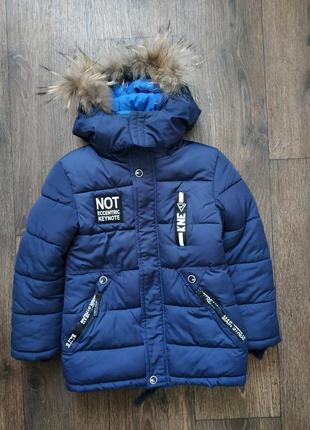 Тёплая зимняя куртка, парка 5-7 лет