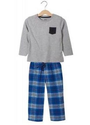 Красивая теплая пижама с фланелевыми штанами для мальчика lupilu.110-116