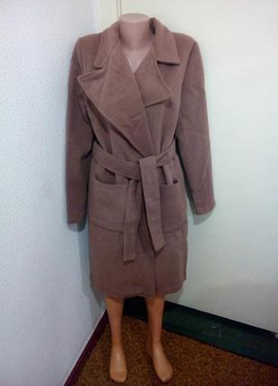Кашемировое пальто на холодную осень теплое