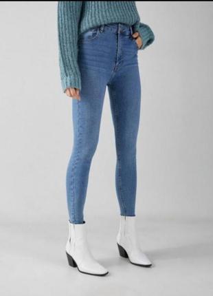 Джинсы скинни, джегинсы, с высокой посадкой, джинсы с завышеной талией, брюки