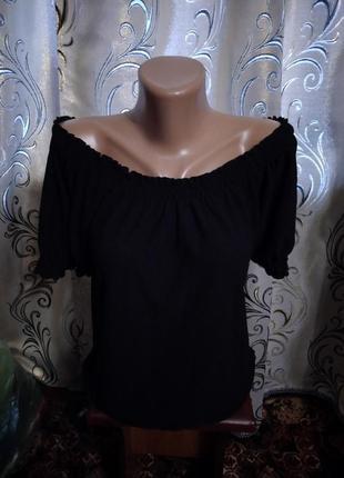 Стильная блуза с открытыми плечами la redoute