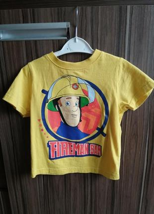 Футболка '' пожарный сем'' sam fireman 2-3 года