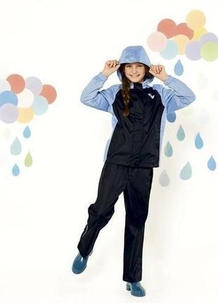 Надежный непромокаемый костюм crivir 122-128 (6-8лет) для сухих прогулок по дождю