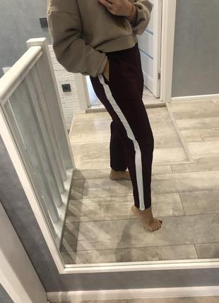 Брюки штаны бордо