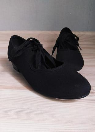 Чёрные тканевые туфли для танцев, степа, чечетки, степовки rv united kingdom