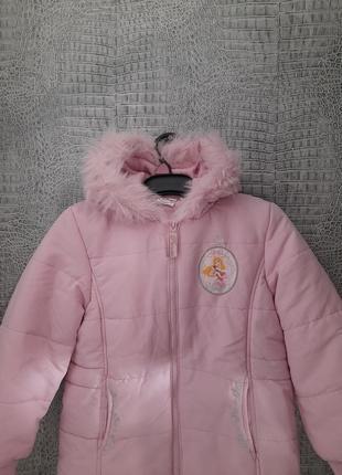 Теплая куртка для девочки еврозима размер 5-6 лет disney