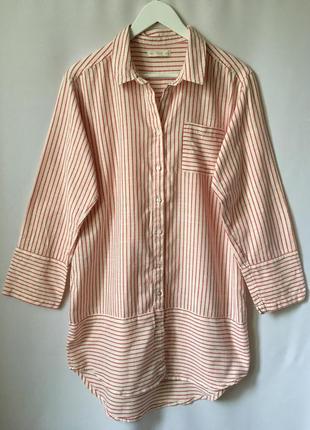 Удлиненная рубашка как платье f&f