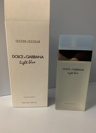 Dolce & gabbana light blue 100 мл тестер оригинал батч-код