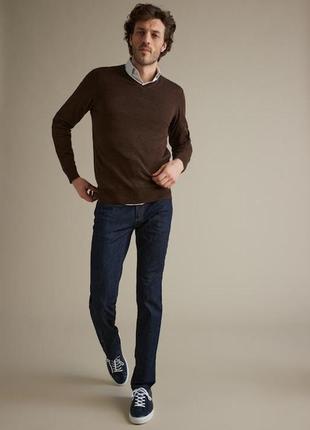 Мужской тонкий джемпер свитер с шерстью премиум