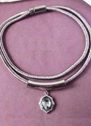 🏵️красивое колье ожерелье жгут с кулоном, новое! арт. 4012-2