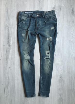Мужские джинсы denimco skinny stretch