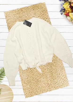 Новый оверсайз свитер с завязками на спине new look