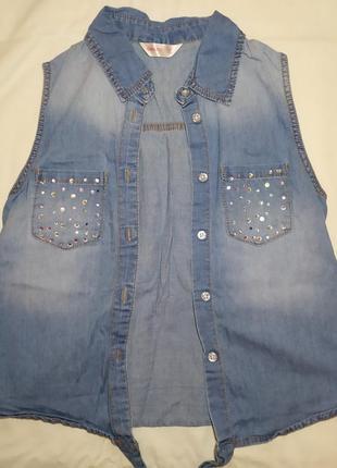 Джинсовая безрукавка geejay (gloria jeans)