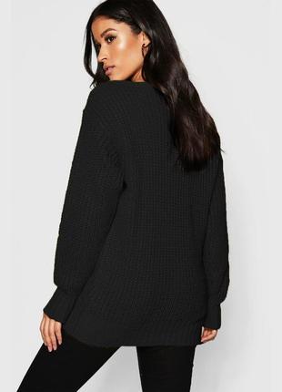 Новый базовый чёрный свитер boohoo