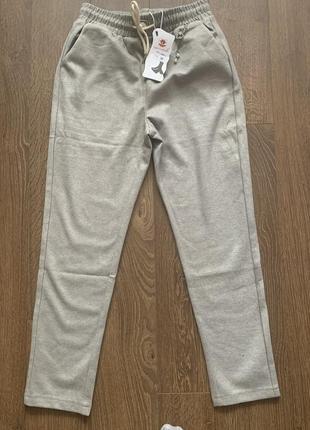 Тёплые шерстяные брюки, штаны тёплые сёрые, новые
