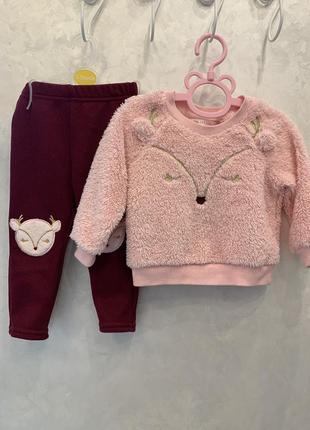 Комплект тёплой одежды 9-12 80 см