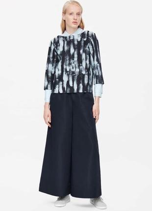 Плотная джинсовая блуза-топ оверсайз cos xs- s
