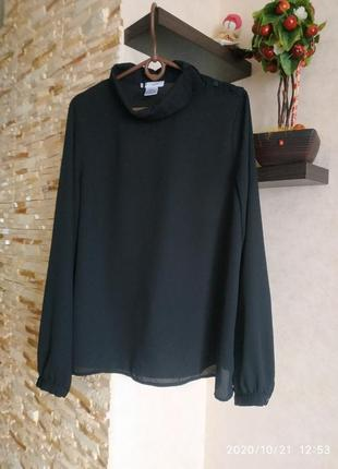 Базовая черная блуза