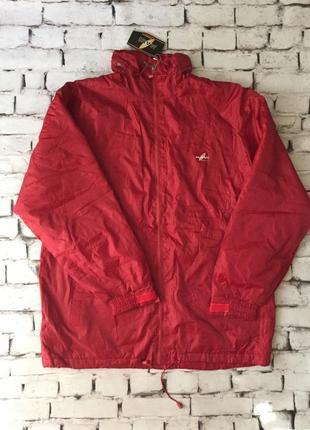 Спортивная куртка мужская ветровка утепленная флисом большой размер