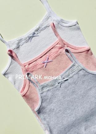 Ажурные майки для девочки primark