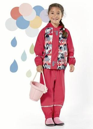 Яркая куртка-ветровка, грязепруф дождевик от немецкого бренда lupilu 110-116 (4-6лет)