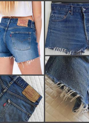 Джинсовые шорты  известного бренда  levis 501 ( указан 31 р.см.замеры)