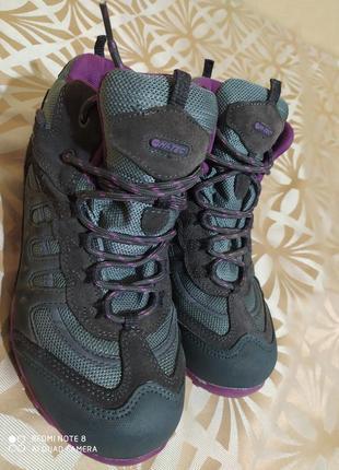 Ботинки женские водонепроницаемые треккинговые hi-tec