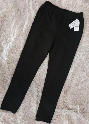 Черные брюки штаны на резинке