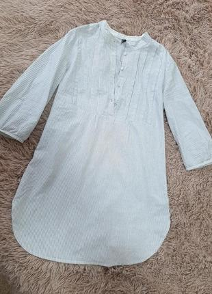 Удлинённая рубашка,  туника в полоску