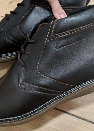 Clarks — теплые мужские зимние ботинки [ натуральная кожа + шерсть ]