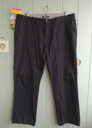 Черные брюки типа чинос большого размера 44, коттон