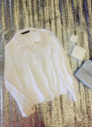 Белая блуза блузка зара