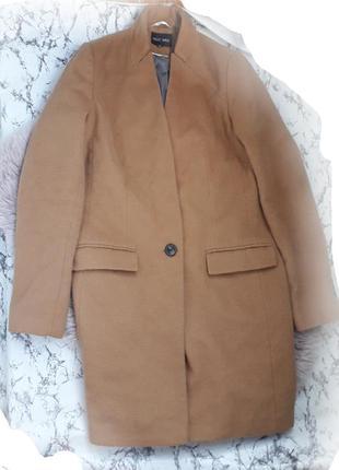 Бежевое пальто бойфренд
