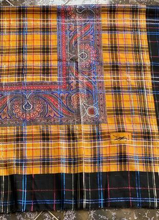Шерстяной платок yves saint laurent оригинал